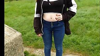 Blonde Teen Outdoors