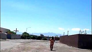 Loves2showall Roadside Naked walk